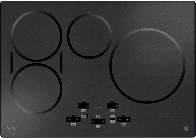 """GE Profile™ 30"""" Black Stainless Steel Induction Cooktop-PHP9030BMTS"""