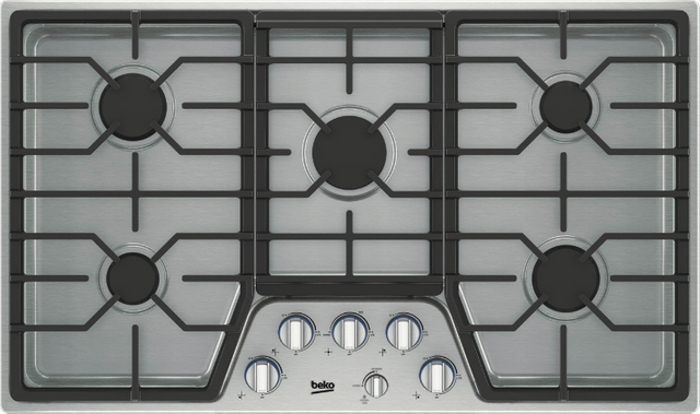 """Beko 36"""" Stainless Steel Built In Gas Cooktop-BCTG36500SS"""