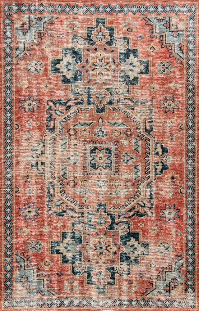 Tapis de zone Turkmen, rouge multi, Renwil®-RTUR-56536-810