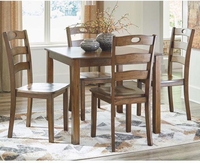 Signature Design by Ashley® Hazelteen Medium Brown 5 Piece Dining Table Set-D419-225