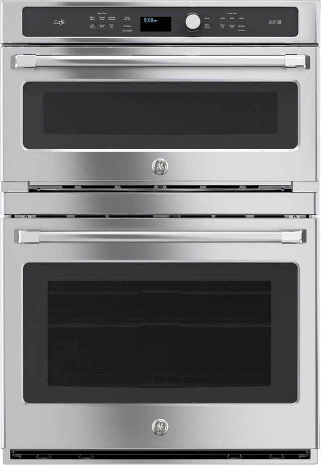 """Café™ 29.75"""" Stainless Steel Electric Built In Oven/Micro Combo-CT9800SHSS"""