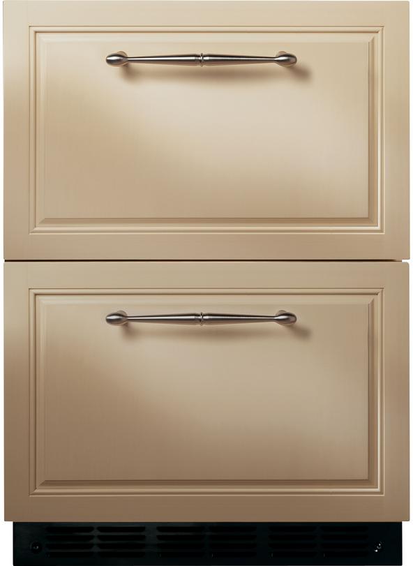 Monogram® 5.0 Cu. Ft. Double Drawer Refrigerator Module-Custom Panel-ZIDI240HII