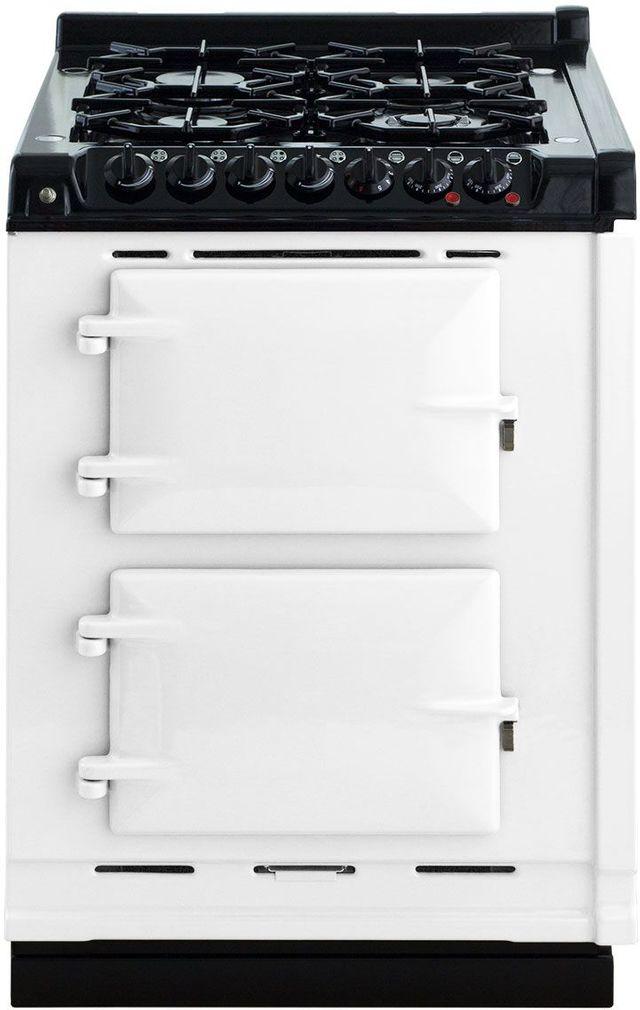 "AGA 24"" White Integrated Dual Fuel Range-TCDCLPM-WHT"