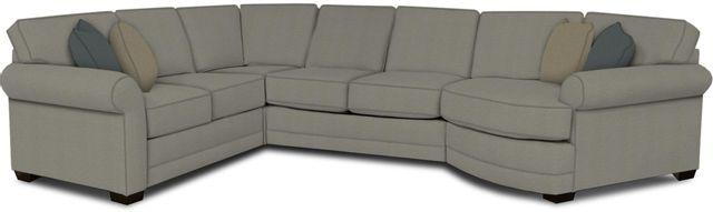 England Furniture Co. Brantley 4 Piece Culpepper Cement/Alvaro Mineral/Nicoli Pebble Sectional-5630-28-22-43-95+8612+8648+8601