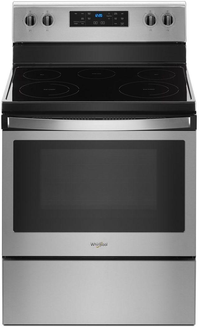 "Whirlpool® 30"" Free Standing Electric Range-Fingerprint Resistant Stainless Steel-WFE505W0HZ"