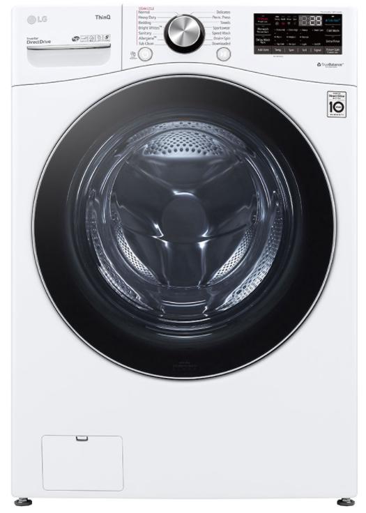 LG 5.0 Cu. Ft. White Mega Capacity Smart Wi-Fi Enabled Front Load Washer-WM4200HWA