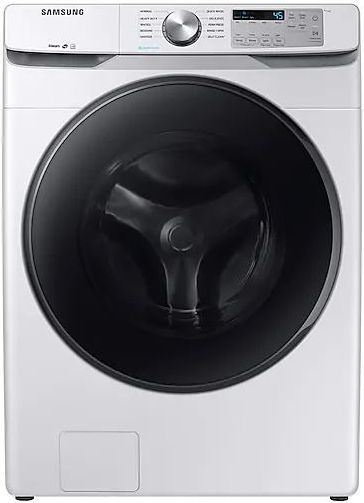 Samsung 4.5 Cu. Ft. White Front Load Washer-WF45R6100AW