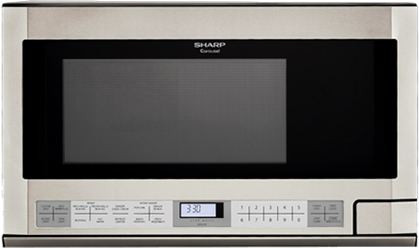 Sharp® Carousel Over The Counter Microwave Oven-Stainless Steel-R1214T