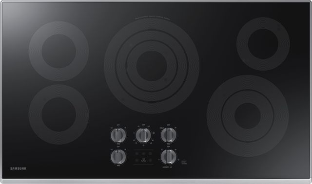 """Samsung 36"""" Electric Cooktop-Stainless Steel-NZ36K6430RS"""