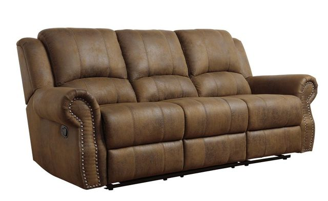 Coaster® Sir Rawlinson Buckskin Brown Reclining Sofa-650151