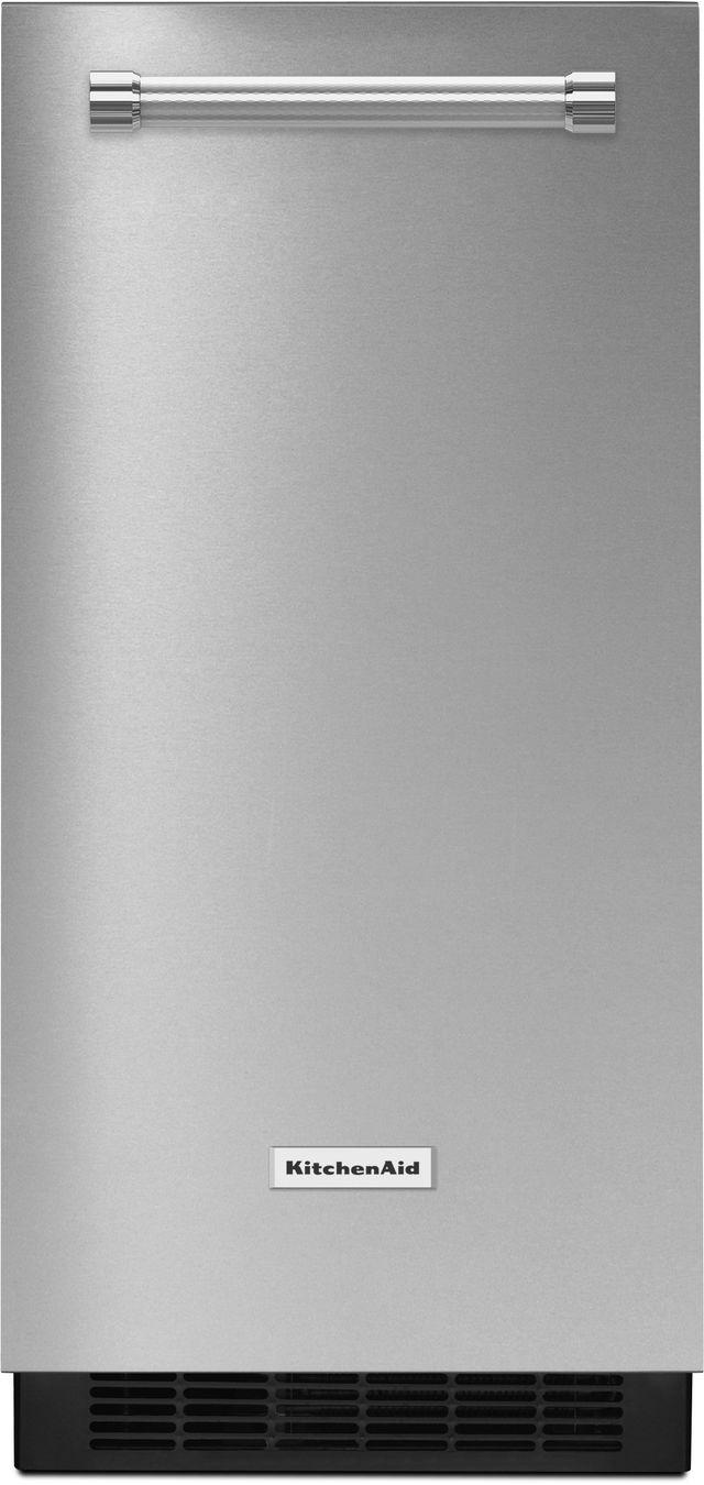 KitchenAid® 15'' Stainless Steel Ice Maker-KUIX305ESS