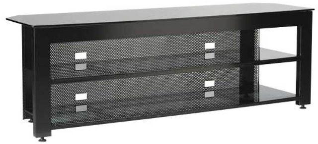 Sanus® Steel Series Black Three-Shelf Widescreen Lowboy-SFV265-B1