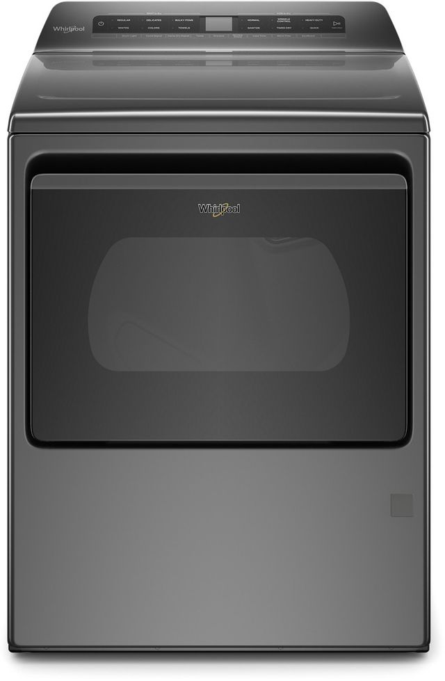 Whirlpool® 7.4 Cu. Ft. Chrome Shadow Front Load Gas Dryer-WGD5100HC