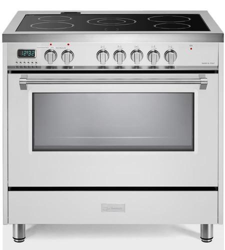 "Verona Designer Series 36"" White Free Standing Electric Range-VDFSEE365W"