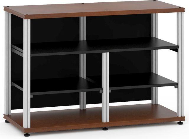 Salamander Designs® Synergy Open Center Twin 30 AV Cabinet-Dark Cherry/Aluminum-SNC30C/A