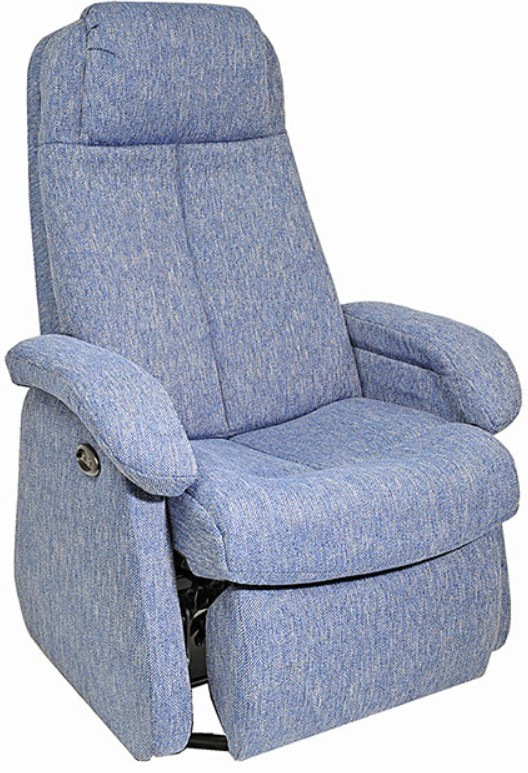 Fauteuil inclinable motorisé motorisé NEO en tissu bleu PEL International®-336459
