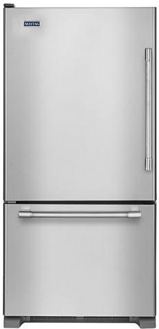 Réfrigérateur à congélateur inférieur de 30 po Maytag® de 18,7 pi³ - Acier inoxydable résistant aux traces de doigts-MBL1957FEZ