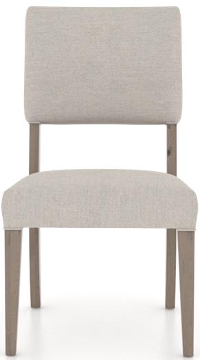 Chaise rembourrée Loft en tissu brun Canadel®-CNN05051JC49RNA
