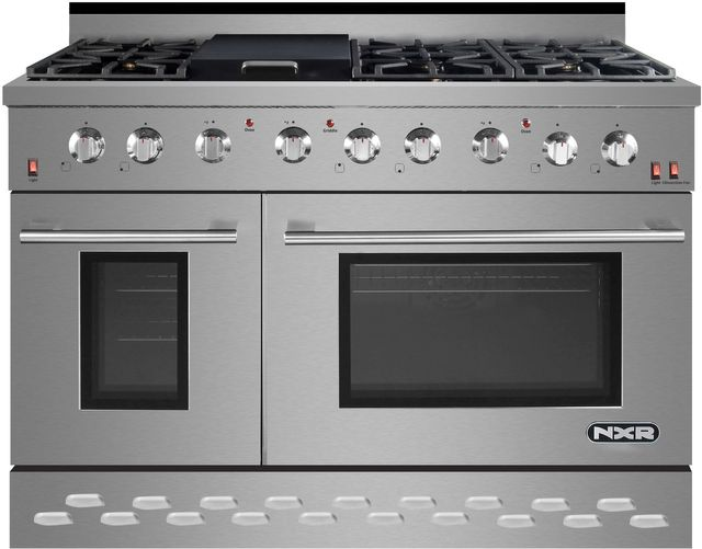 "NXR 48"" Stainless Steel Pro Style LP Gas Range-SC4811LP"