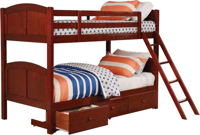 Coaster® Parker Youth Warm Chestnut Twin/Twin Bunk Bed-460213