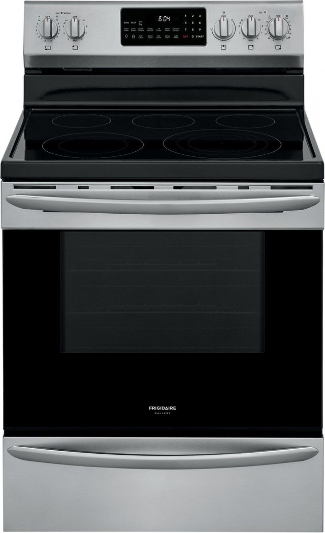 """Frigidaire Gallery® 30"""" Stainless Steel Free Standing Electric Range with Air Fry-GCRE3060AF"""