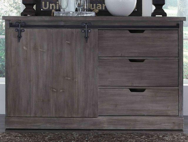 Liberty Furniture Carolina Lakes Distressed Gray Dining Server-140-SR6037