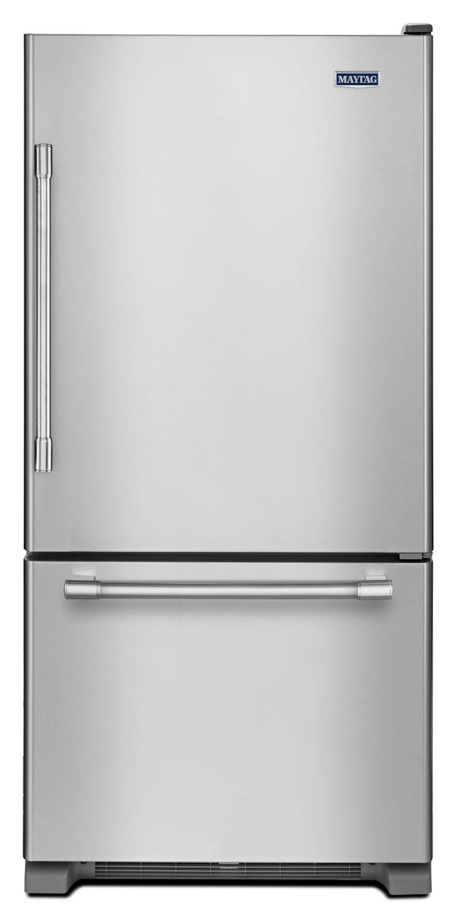 Réfrigérateur à congélateur inférieur de 30 po Maytag® de 18,7 pi³ - Acier inoxydable résistant aux traces de doigts-MBR1957FEZ