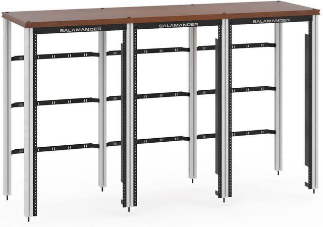 Salamander Designs® Synergy Triple 40 Extension Rack Mount-Dark Cherry/Aluminum-SLX40RMC/A