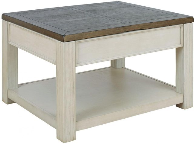 Signature Design by Ashley® Bolanburg Brown/White Lift Top Cocktail Table-T751-0