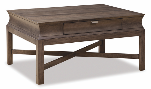 Durham Furniture Cascata Solid Accents Coastal Fog Resin Cocktail Table-161-501