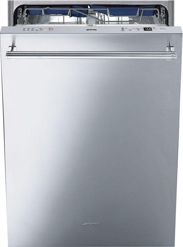 """Smeg 24"""" Built In Dishwasher-Fingerprint Proof Stainless Steel-STU8647X"""