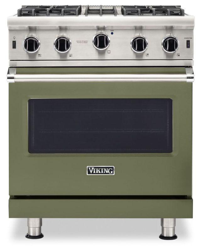 "Viking® 5 Series 30"" Cypress Green Pro Style Natural Gas Range-VGIC53024BCY"