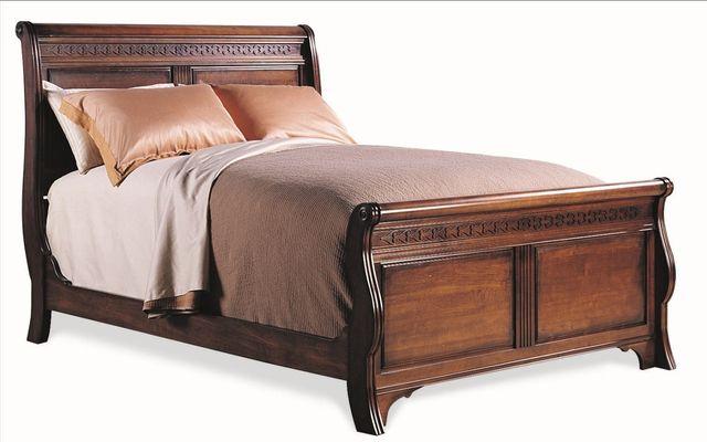 Durham Furniture George Washington Architect Vernon Queen Sleigh Bed-501-128