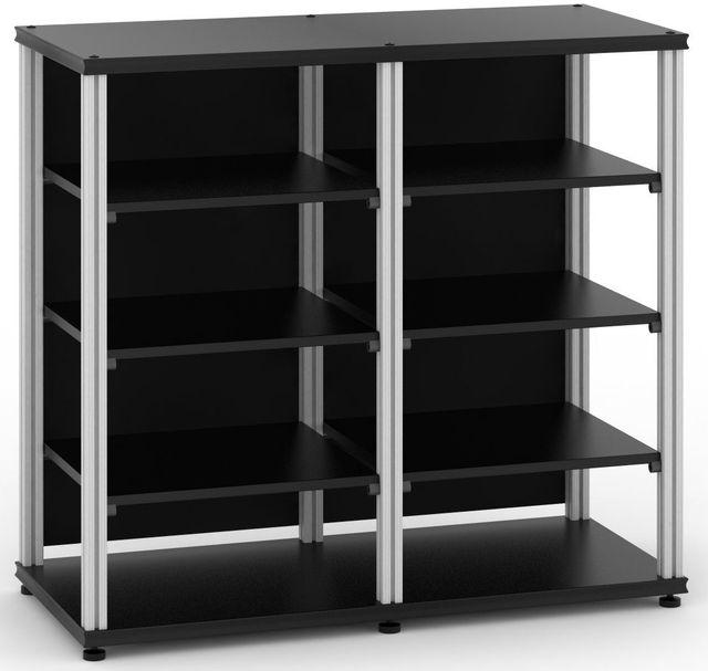 Salamander Designs® Synergy Twin 40 AV Cabinet-Black/Aluminum-SN40B/A