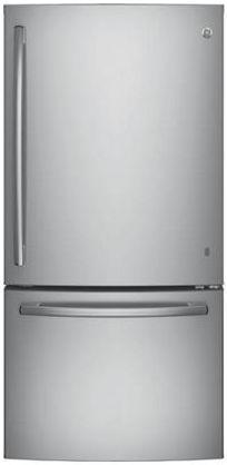 GE® Series 24.9 Cu. Ft. Bottom Freezer Refrigerator-Stainless Steel-GDE25ESKSS