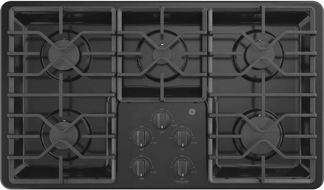 """GE® 36"""" Built-In Gas Cooktop-Black-JGP3036DLBB"""