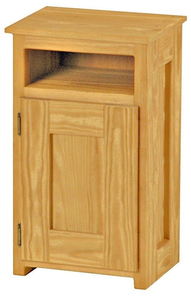 Crate Designs™ Classic Left Side Hinge Door Petite Nightstand-A8003L