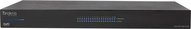 SnapAV Araknis Networks® 310 Series Black 16+2 Rear Ports L2 Managed Gigabit Switch-AN-310-SW-R-16