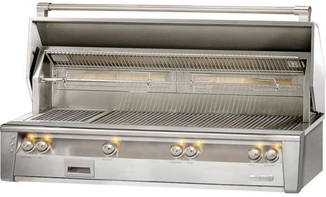 """Alfresco™ ALXE Series 56"""" Built-In Grill-Stainless Steel-ALXE-56BFG-NG"""