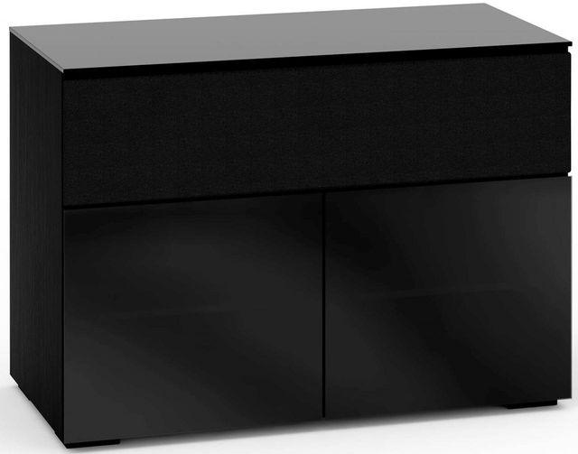 Salamander Designs® Oslo 329 AV Cabinet-Black Glass-C/OS329/BG