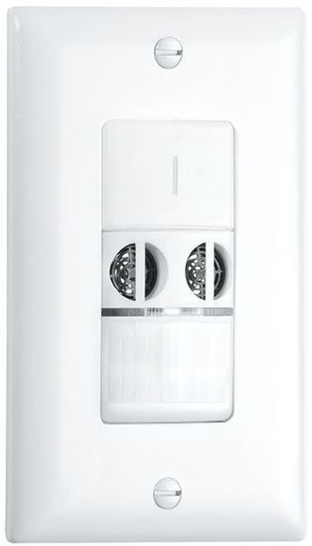 Crestron® STEINEL DT WLS 1 Dual Technology Wall Switch Occupancy Sensor-Light Almond-GLA-DT-WLS-1-LA
