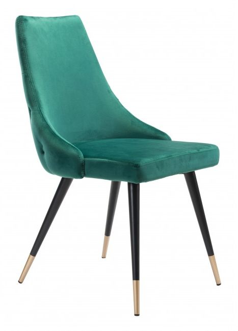 Zuo® Piccolo Green Set of 2 Dining Chairs-101090