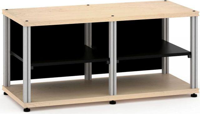 Salamander Designs® Synergy Twin 20 AV Cabinet-Natural Maple/Aluminum-SN20M/A