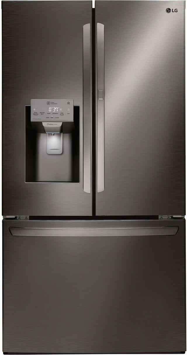 LG 27.7 Cu. Ft. Black Stainless Steel French Door Refrigerator-LFXS28566D