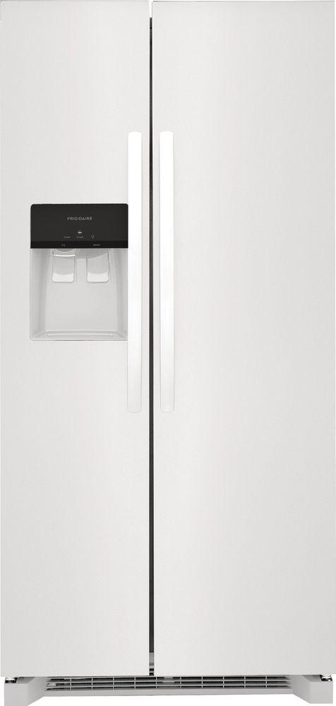 Frigidaire® 22.2 Cu. Ft. White Standard Depth Side-by-Side Refrigerator-FRSS2323AW