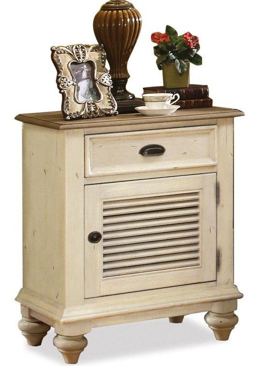 Riverside Furniture Coventry Two Tone Shutter Door Nightstand-32569