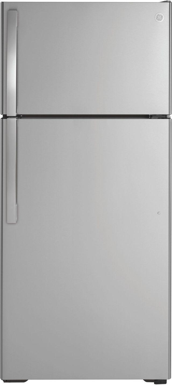 Réfrigérateur à congélateur supérieur de 28 po GE® de 16,6 pi³ - Acier inoxydable-GTE17GSNRSS
