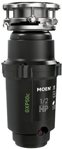 Moen® GX PRO Series 0.5 HP Continuous Feed Black Garbage Disposal-GXP50C