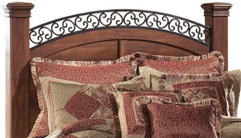 Signature Design by Ashley® Timberline Warm Brown King Poster Headboard Panel-B258-78