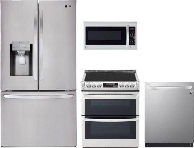 LG 4 Piece Kitchen Package-Stainless Steel-LGKITLDT7808SS